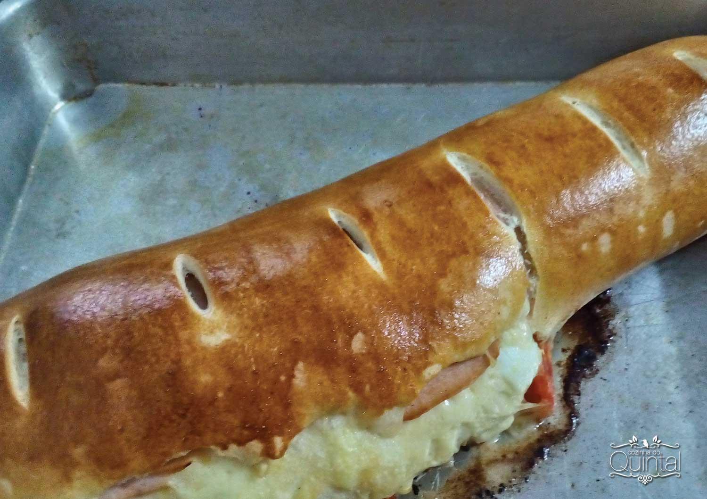 Pão Caseiro Recheado fácil de fazer e delicioso! Na Cozinha do Quintal