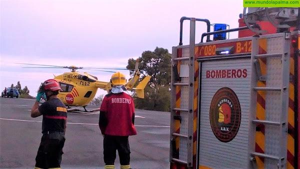Rescatado ayer un hombre que cayó a un barranco en Tijarafe