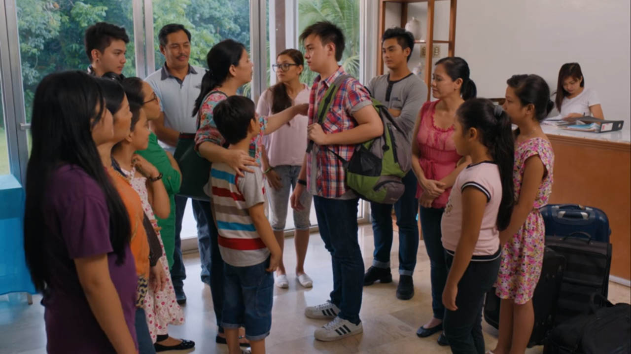 1st Sem 2016 CineFilipino Film Festival featuring Lotlot De Leon as a loving mother frustrated at her son played by Darwin Yu for not going to college because of separation anxiety