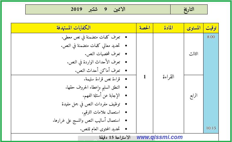 المذكرة اليومية مملوءة للمستويات 3+4+5+6 / عربية لأسابيع التقويم التشخيصي