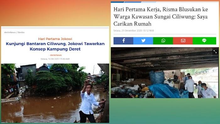 Ke Ciliwung, Dulu Jokowi Janjikan Kampung Deret tapi Tak Terwujud, Kini Risma Janjikan Rumah