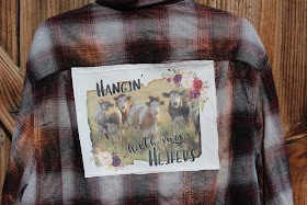 flannel shirt with cows