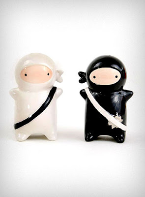 Ninjas Salt and Pepper Shaker Set