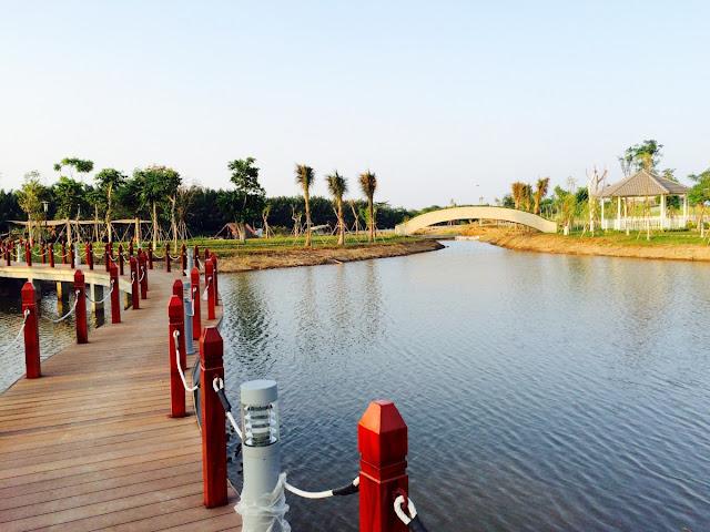 Hồ điều tiết khu Biệt thự - Nhà phố Park River Side quận 9 HCM