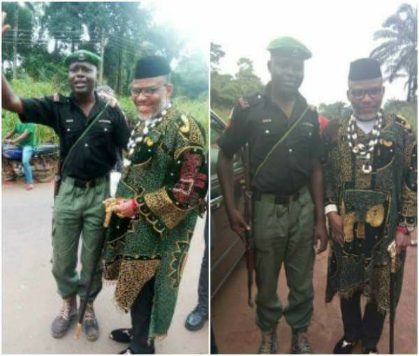 Policemen who took pictures with Nnamdi Kanu