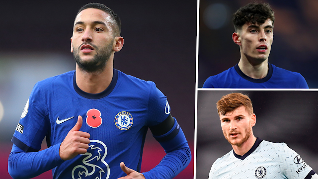Kai Havertz, Timo Werner and Hakim Ziyech - A chance to finally shine at Chelsea.