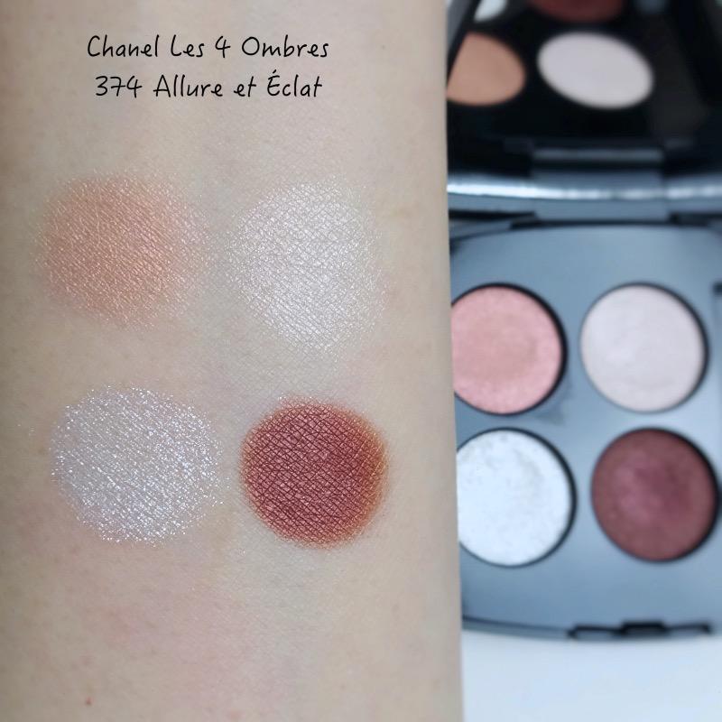 Chanel les 4 ombres Allure et Éclat swatches