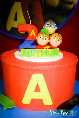 Biscuit, Topo de Bolo, Aniversário, Alvin e os Esquilos