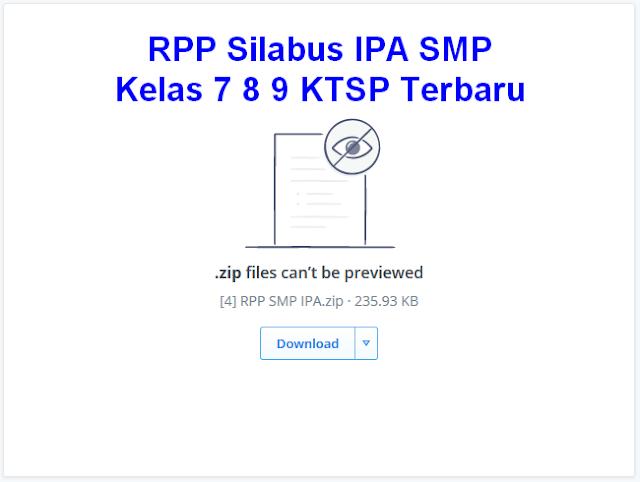 RPP Silabus IPA SMP Kelas 7 8 9 KTSP