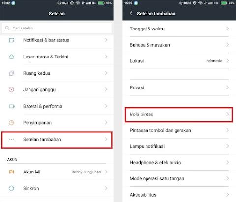 Cara Menggunakan Fitur Bola Pintasan di Xiaomi