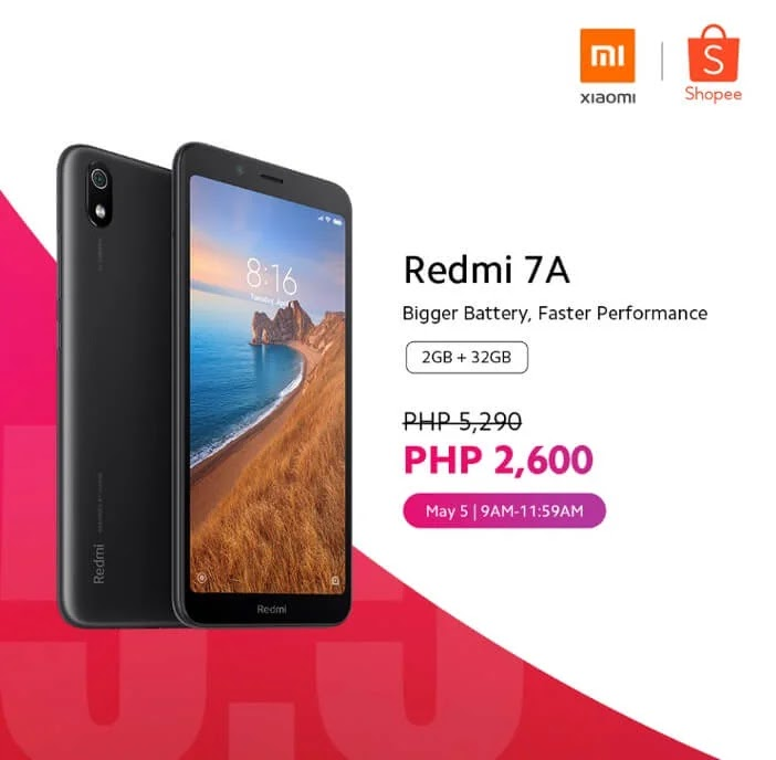 Xiaomi Redmi 7A 3GB + 32GB Will Be 50% Off Tomorrow; Grab Yours for Only Php2,600 Instead of Php5,290