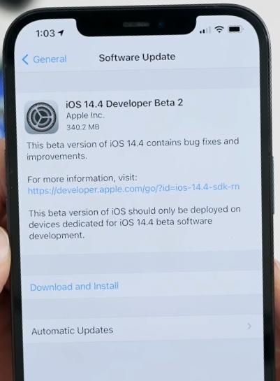 Apple iOS 14.4 Beta 2 & iPad OS 14.4 Beta 2 Released.