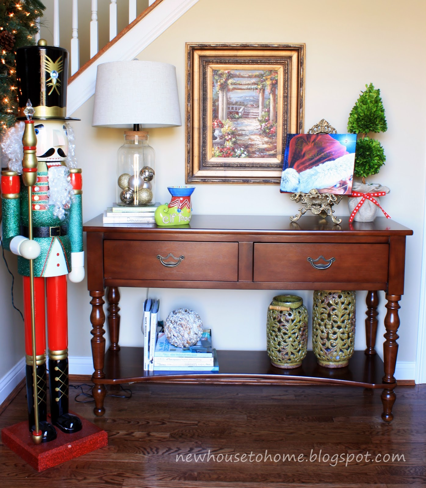 Christmas Decorating Ideas For Sofa Table Bloom Review Fall Decor Console Interior Design
