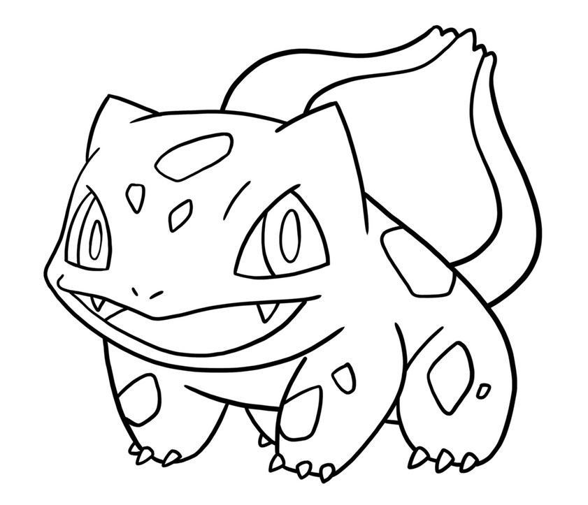 bulbasaur best pokemon gen 1 coloring pages
