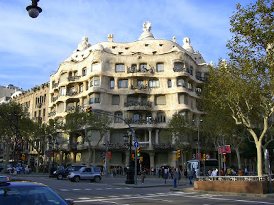 Casa Milà in Passeig de Gràcia