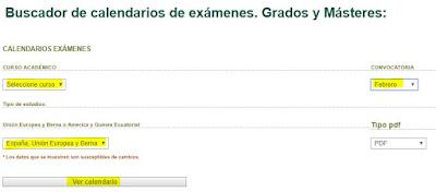 Formulario de exámenes