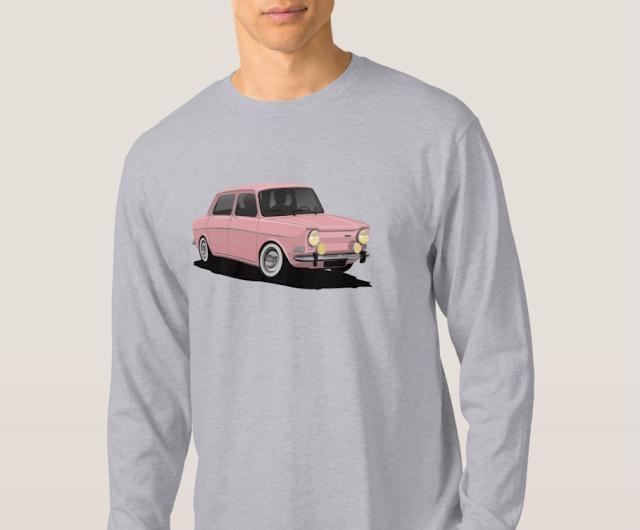 Kaunis ranskalaisklassikko Simca 1000 T-paita