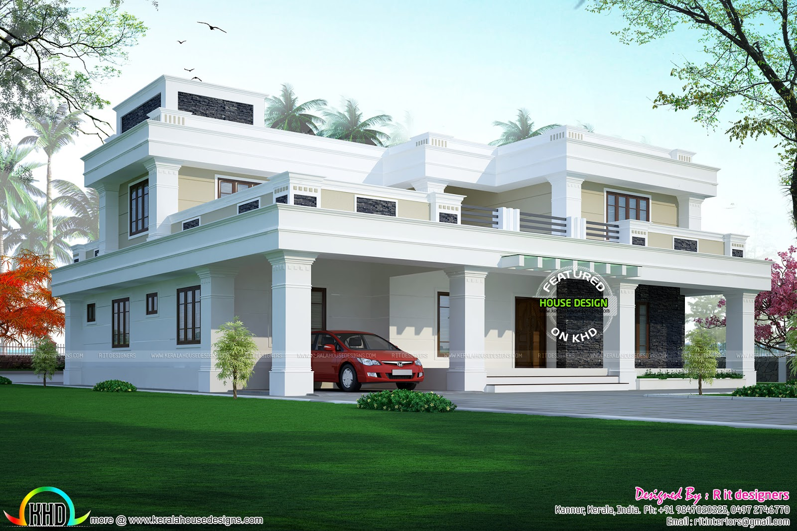 311 Sq M Flat Roof Home Design Home Design Simple