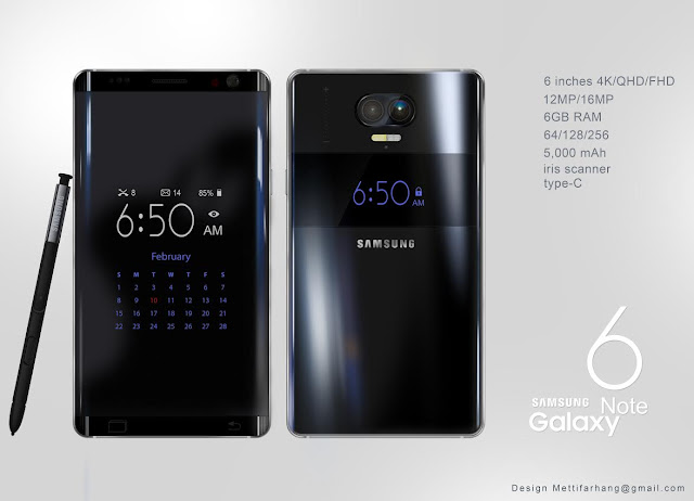 Samsung Galaxy Note 6 Concept With 6 GB Ram