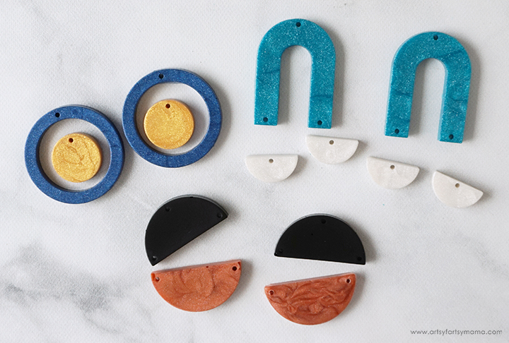 Modern Clay Earring Pieces