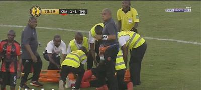 اصابة لاعب اول اغسطس وخروجه امام مازيمبي