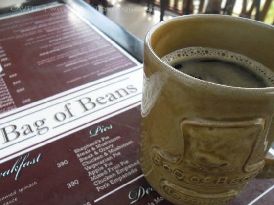 A cup of coffee from Bag of Beans, Tagaytay