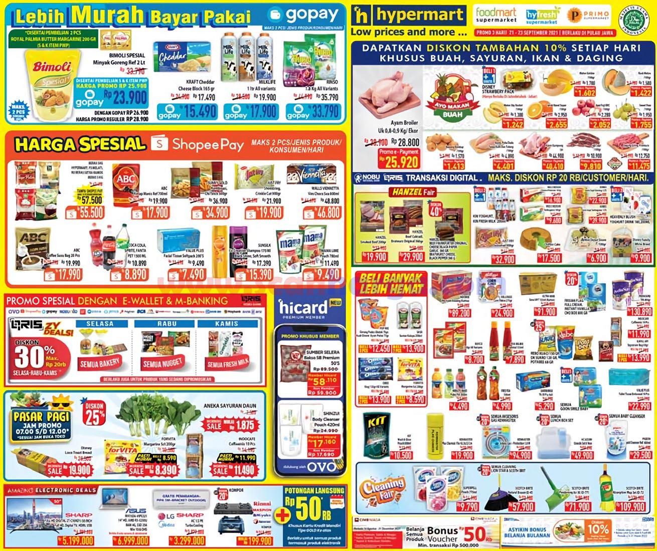 Katalog Promo Hypermart Weekday Terbaru 21 - 23 September 2021 1