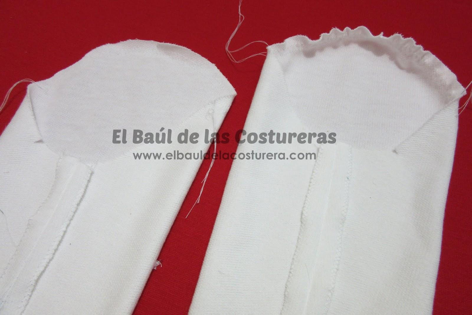 como embeber mangas de blusa baul costureras tutorial