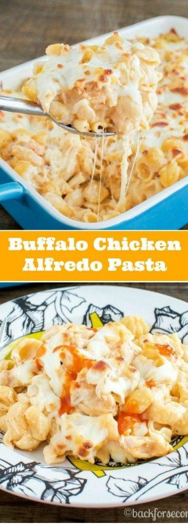 Buffalo Chicken Alfredo Bake