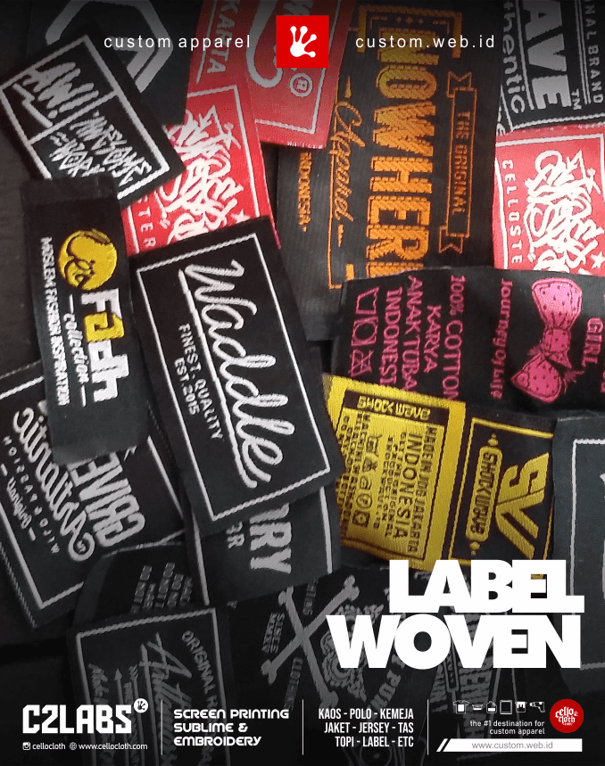 Produksi Label Woven Label Kaos LabelTas Murah - Vendor Label Jogja