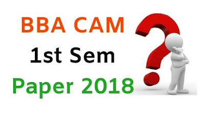 BBA (CAM) 1st Sem Previous Question Papers 2018 Mdu (Maharshi Dayanand University)