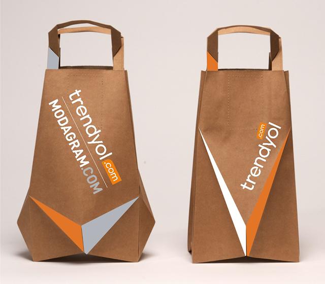 50 Desain Paper Bag/ Tas Belanja Slim, kerucut