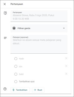Cara Membuat Absen di Google Classroom - 1D