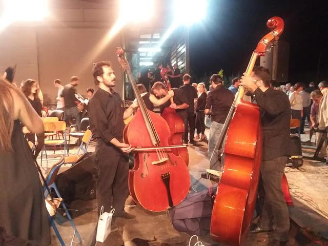 Ο Γ. Γκιόλας στη συναυλία της Αθηναϊκής Συμφωνικής Ορχήστρας στο Κρανίδι