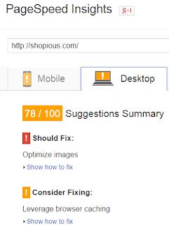 Analisa Kecepatan Loading Shopious Berdasarkan Google Pagespeed Insight