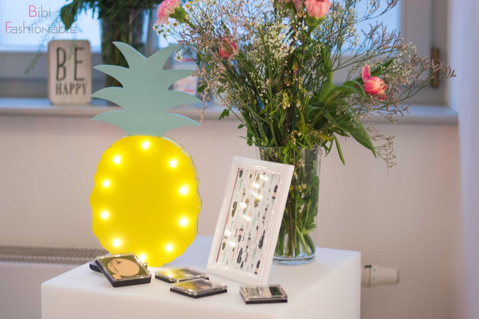 Wir Entdeckerinnen Beauty Blogger Event by dm Ananas Deko