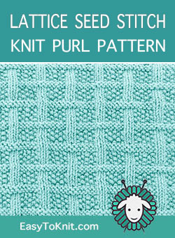 Easy Knit and Purl pattern