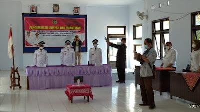 Tiga Kepala Desa Terpilih Kecamatan Pituruh, Resmi Dilantik Secara Virtual