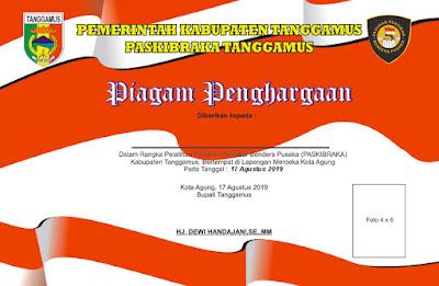 Piagam dan Sertifikat Penghargaan Hari Kemerdekaan RI
