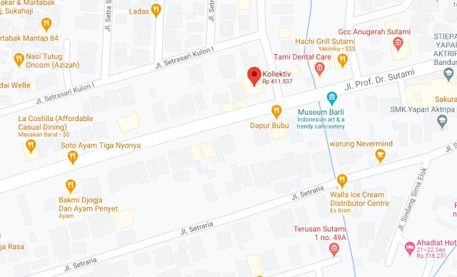 Map Letak Hotel Kollektiv Bandung
