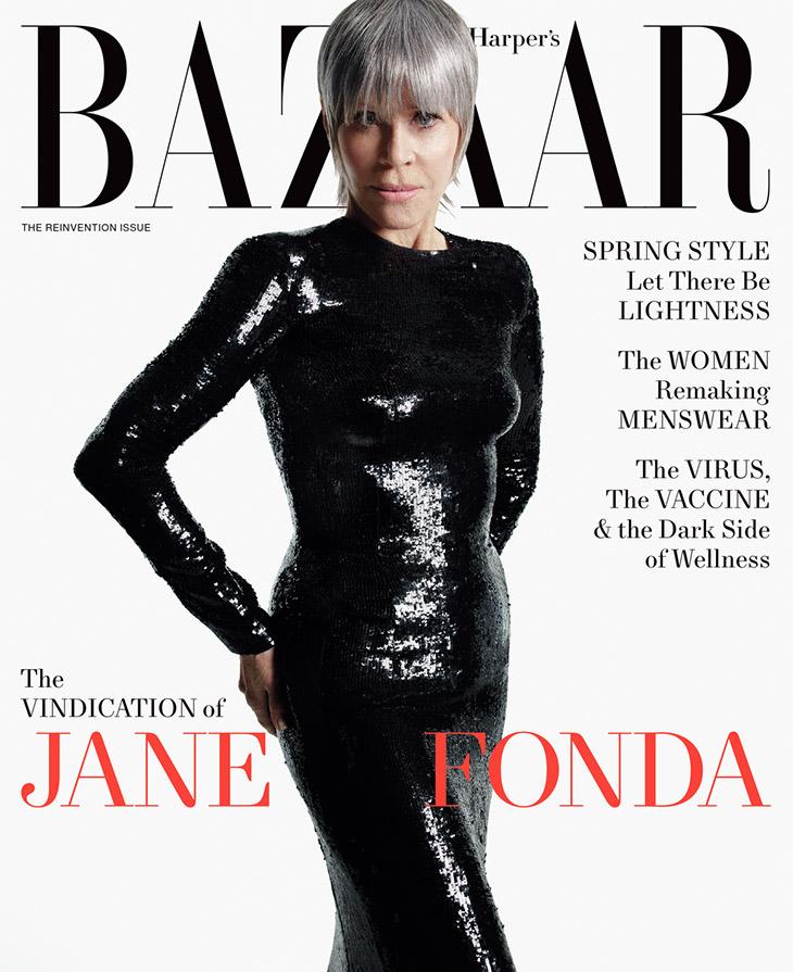 Jane Fonda is the Cover Star of Harper's BAZAAR April 2021 Issue