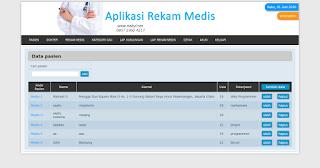cara membuat aplikasi rekam medis berbasis web