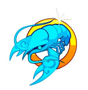 Imagen de un Cangrejo azul que representa al signo zodiacal Cáncer