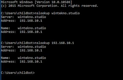 cek dns server melalui cmd