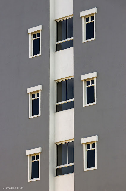 Side of a residential apartment in Jaipur City (India)