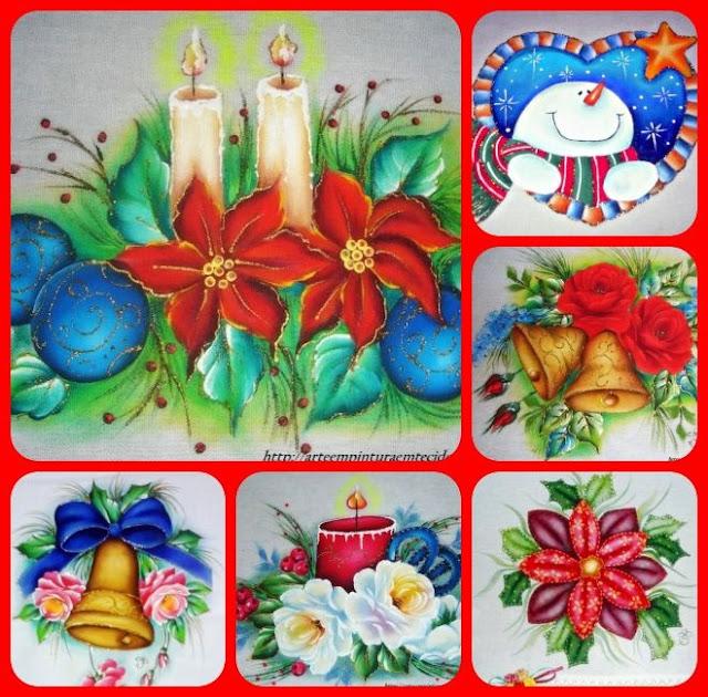 atesnato, fabric painting feliz natal