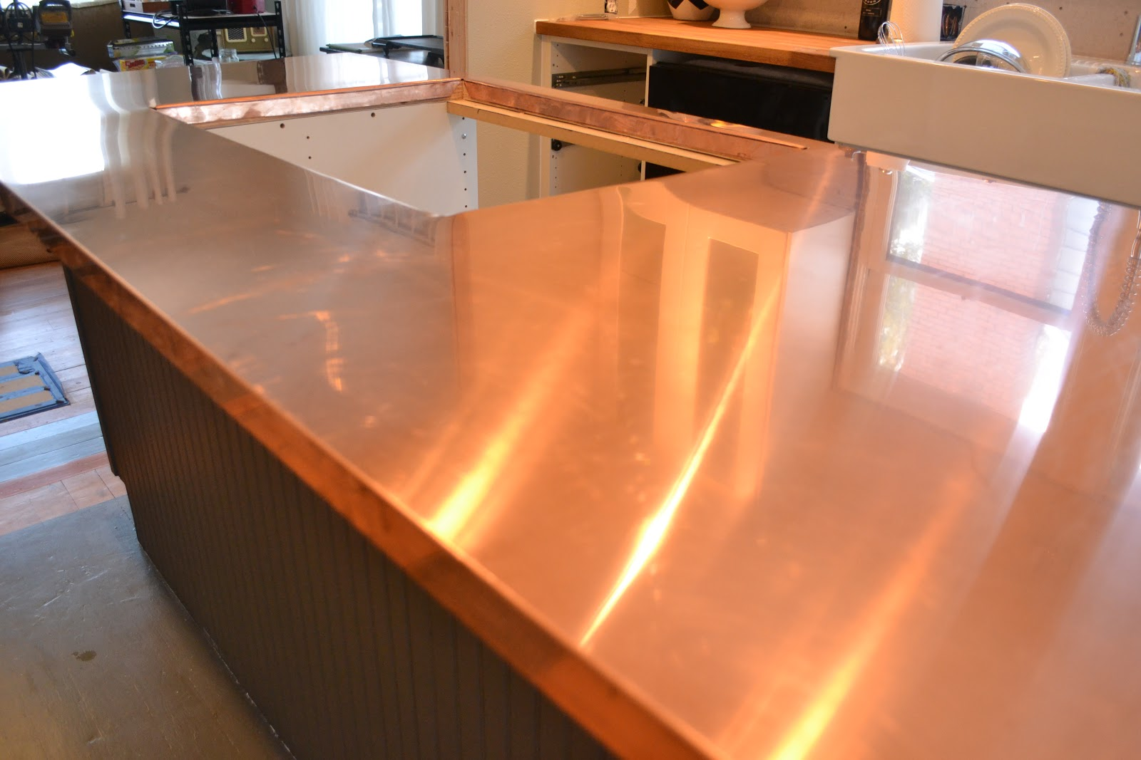 Copper Kitchen Countertops Short Curtains For A Home In The Making Renovate Counters