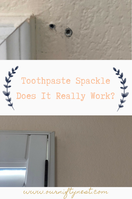 toothpaste spackle, does it really work? pin image