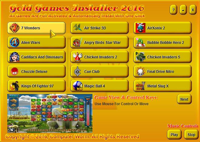 لعشاق الالعاب 36 لعبة علي اسطوانة Gold Games installer 2016 بحجم صغير تعمل علي كل الاجهزة