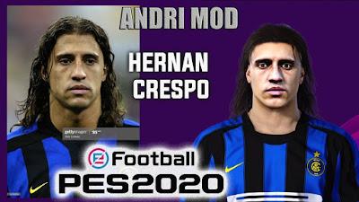 PES 2020 Faces Hernan Crespo by Andri Mod